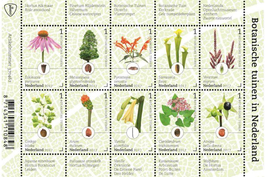postzegels botanische tuinen