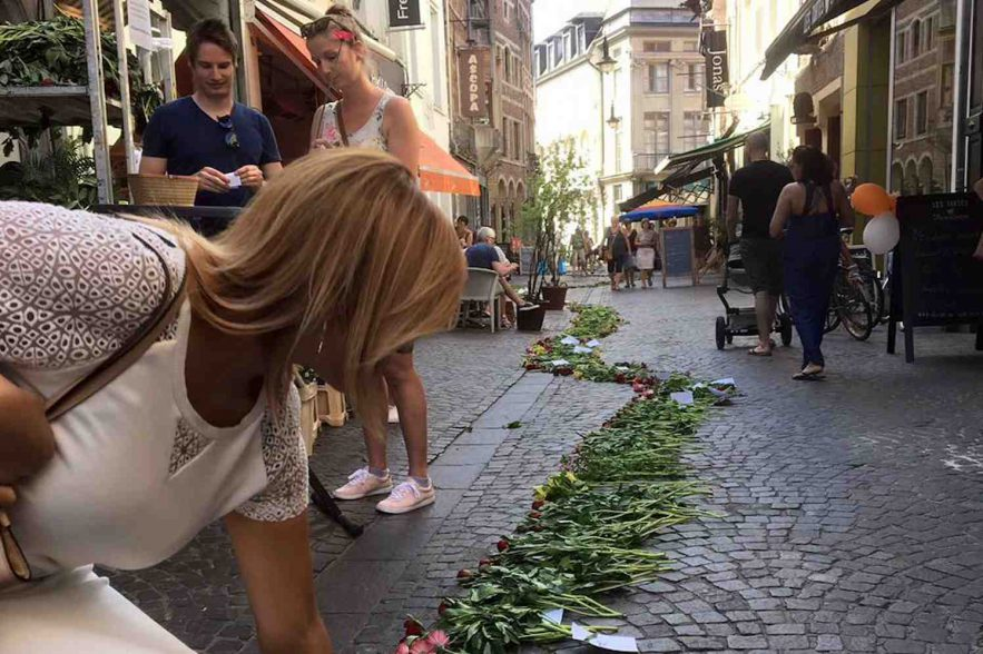 bloemenslinger tegen geweld