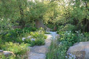 de groene tuin