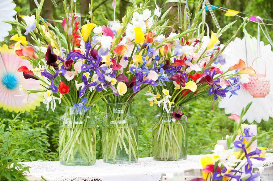 zomerbloemen in vaas