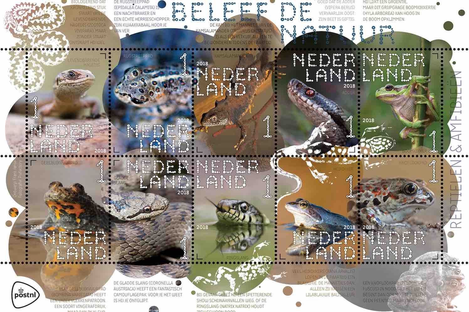 postzegels veldbloemen