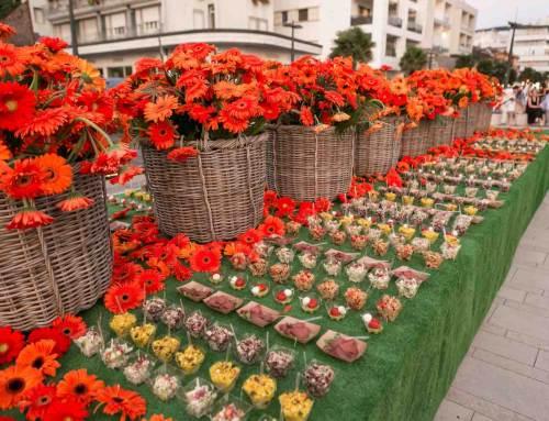Oranje gerbera's decor voor Italiaans event Spritz