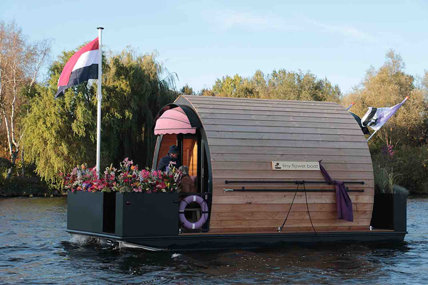 tiny flower boat