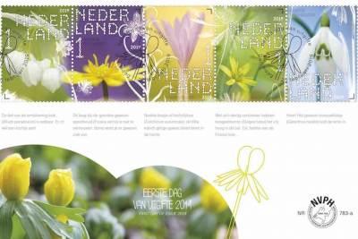 stinsenplanten, postzegels