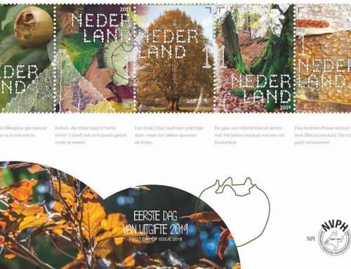 10 bomen vereerd met een eigen postzegel