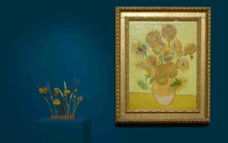 gedroogde zonnebloemen